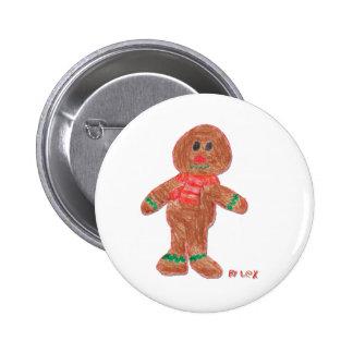 Gingerbread Boy Button