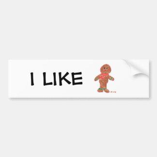 Gingerbread Boy Car Bumper Sticker