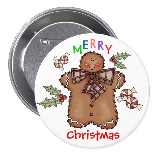 Gingerbread Boy Button by SRF