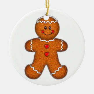 GINGERBREAD BOY by SHARON SHARPE Christmas Tree Ornament