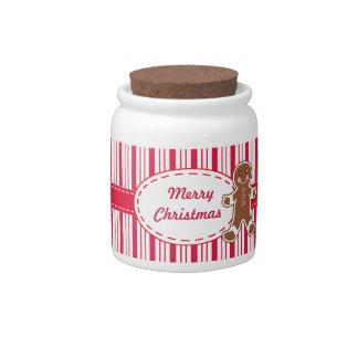 Gingerbread Boy Candy Jar