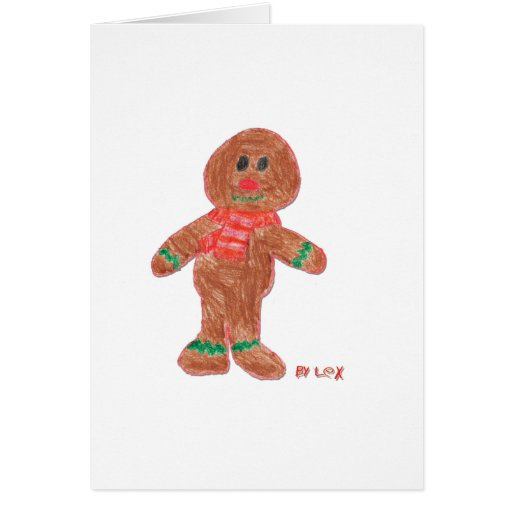 Gingerbread Boy Greeting Cards