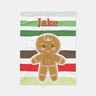 Gingerbread Boy Christmas Blanket