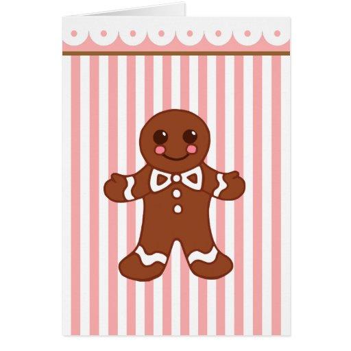 Gingerbread Boy Christmas Card