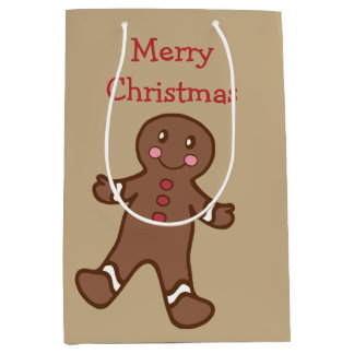 Gingerbread Boy Christmas Gift Bag