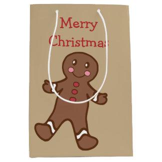 Gingerbread Boy Christmas Gift Bag Medium Gift Bag