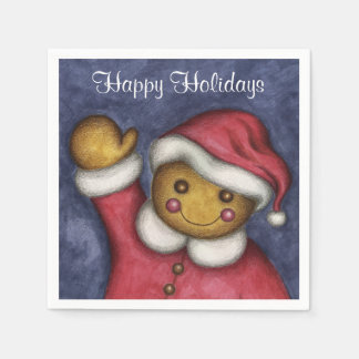 Gingerbread Boy Christmas Napkins Paper Napkin