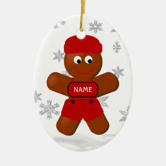 Gingerbread Boy Christmas Ornament