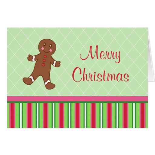 Gingerbread Boy Christmas Photo Card