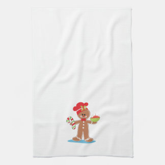 Gingerbread Boy Christmas Towel