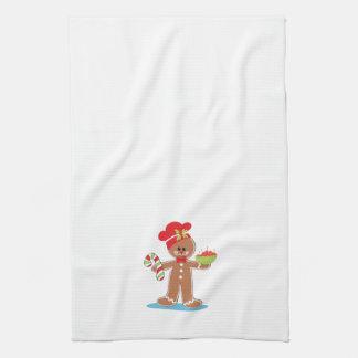 Gingerbread Boy Christmas Towel