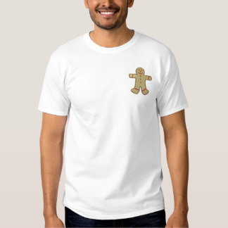 Gingerbread Boy Embroidered T-Shirt