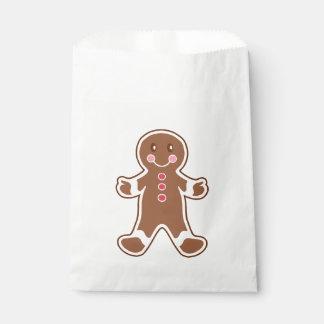 Gingerbread Boy Favor Bag Favour Bags