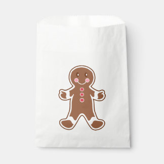Gingerbread Boy Favor Bag Favour Bags