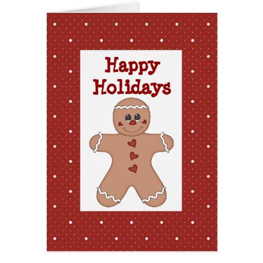 Gingerbread Boy Holiday Card