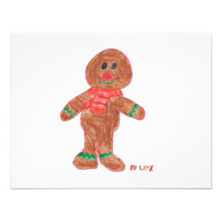 Gingerbread Boy Personalized Invitations