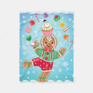 Gingerbread Boy Juggling Blanket