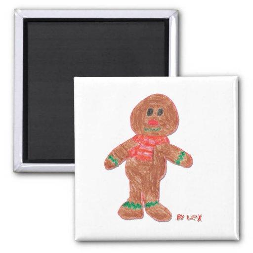 Gingerbread Boy Refrigerator Magnet