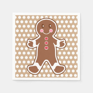 Gingerbread Boy Napkins Paper Serviettes