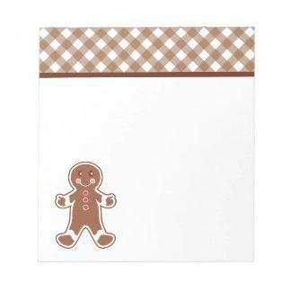 Gingerbread Boy Notepad