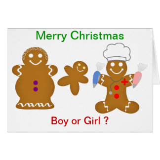 Gingerbread Boy or Girl Greeting Cards