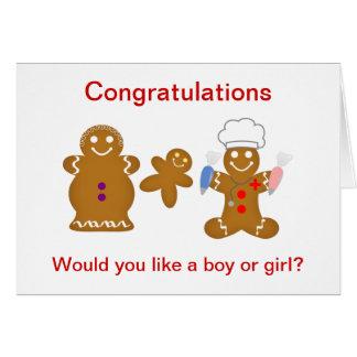 Gingerbread Boy or Girl Card