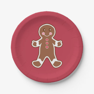 Gingerbread Boy Paper Plates 7 Inch Paper Plate