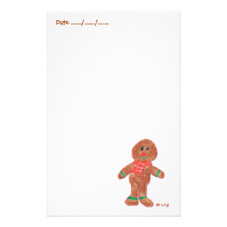 Gingerbread Boy Personalised Stationery