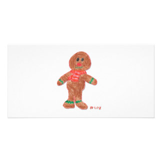 Gingerbread Boy Photo Cards