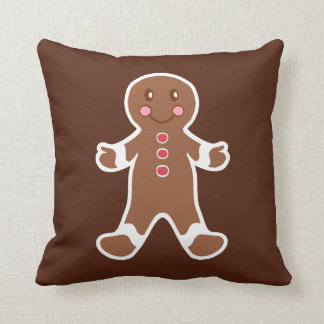 Gingerbread Boy Pillow Cushion