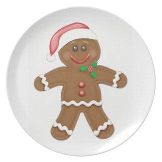 Gingerbread Boy Dinner Plates