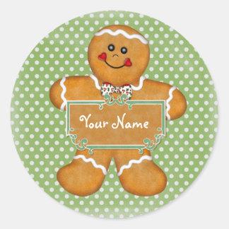 Gingerbread Boy Polka Dot Sticker