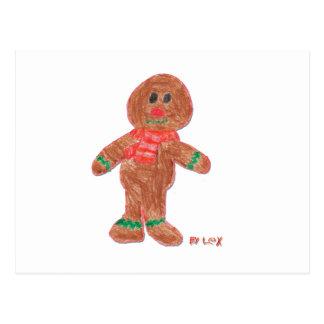 Gingerbread Boy Postcard