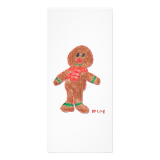 Gingerbread Boy Custom Rack Card