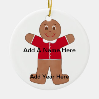 Gingerbread Boy Red Ornament