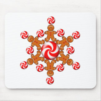 GINGERBREAD BOY STAR by SHARON SHARPE Mouse Pad
