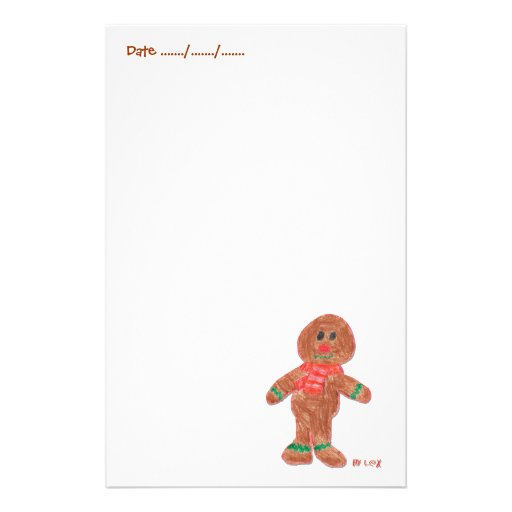 Gingerbread Boy Personalized Stationery