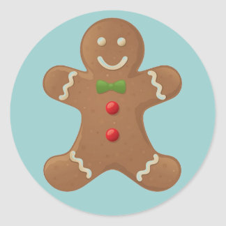 Gingerbread Boy Sticker