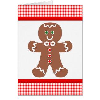 Gingerbread Boy Thank You Card