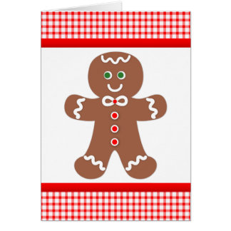 Gingerbread Boy Thank You Note Card