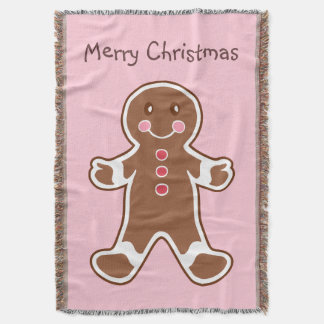 Gingerbread Boy Throw Blanket