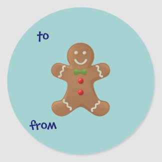 Gingerbread Boy-To/From Sticker