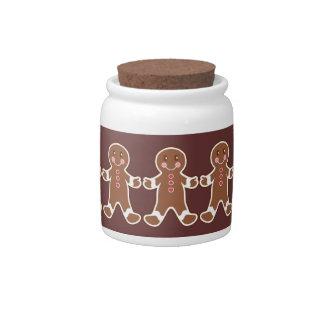 Gingerbread Boys Candy Jar