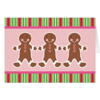 Gingerbread Boys Christmas Card
