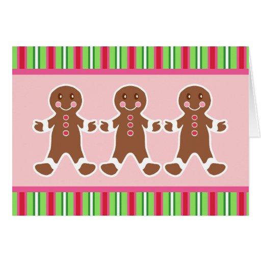 Gingerbread Boys Christmas Card