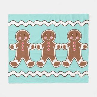 Gingerbread Boys Fleece Blanket