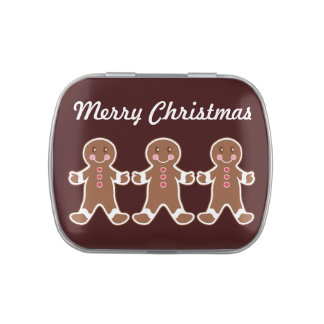 Gingerbread Boys Tin Jelly Belly Candy Tin
