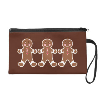Gingerbread Boys Wristlet Bag