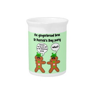 gingerbread bros St Patrick s Day party Pitchers