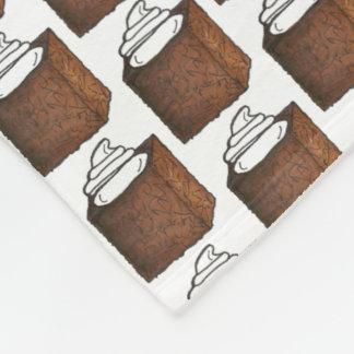 Gingerbread Cake Slice Christmas Baking Holiday Fleece Blanket